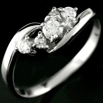 ピンキーリング 指輪 ホワイトゴールドk10リング ダイヤモンド リング ダイヤモンド k10 10金 一粒 ストレート 送料無料