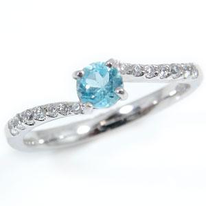 宝石 プラチナ ダイヤモンド ブルートパーズ プラチナリング ダイヤ トパーズ 送料無料 11月の誕生石ブルートパーズ ストレート ピンキーリング 指輪