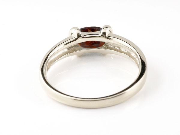 ピンキーリング ガーネットリング ホワイトゴールドk10 指輪 10金 1月誕生石 ストレート 宝石 送料無料