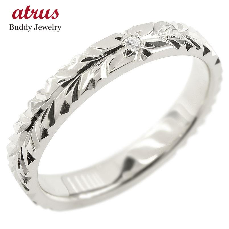 18金 リング ゴールド ダイヤモンド 一粒 レディース ハワイアンジュエリー 指輪 ホワイトゴールドk18 婚約指輪 エンゲージリング ピンキーリング 送料無料 年始 七夕祭り プレゼント 父の日