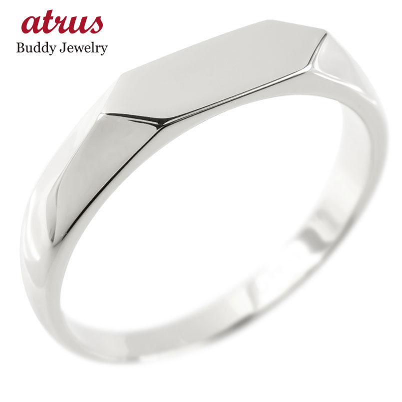 18金 リング ゴールド 印台 レディース 指輪 地金 ホワイトゴールドk18 婚約指輪 安い エンゲージリング ピンキーリング リング 女性 人気 送料無料