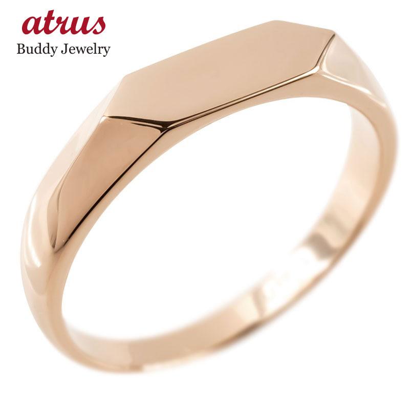 ゴールド リング 印台 レディース 指輪 地金 ピンクゴールドk10 10金 婚約指輪 安い エンゲージリング ピンキーリング リング 女性 人気 送料無料