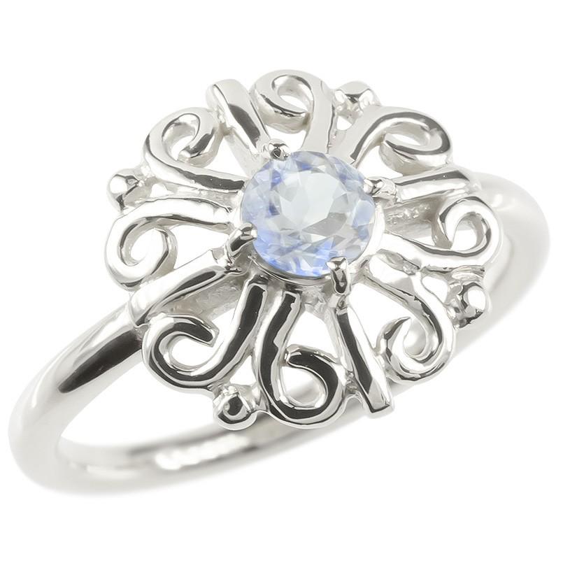 プラチナ リング ブルームーンストーン レディース 指輪 pt900 婚約指輪 安い エンゲージリング ピンキーリング 透かし アラベスク アンティーク 花 フラワー