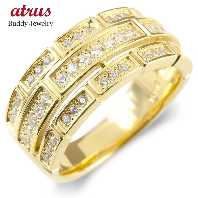 正規店仕入れの 18金 リング メンズ ダイヤモンド メンズ 18金 指輪 レンガ調 ゴールド 18k イエローゴールドk18 ピンキーリング リング 幅広 レンガ調 ブリック 送料無料, ココカル:1810167c --- promilahcn.com