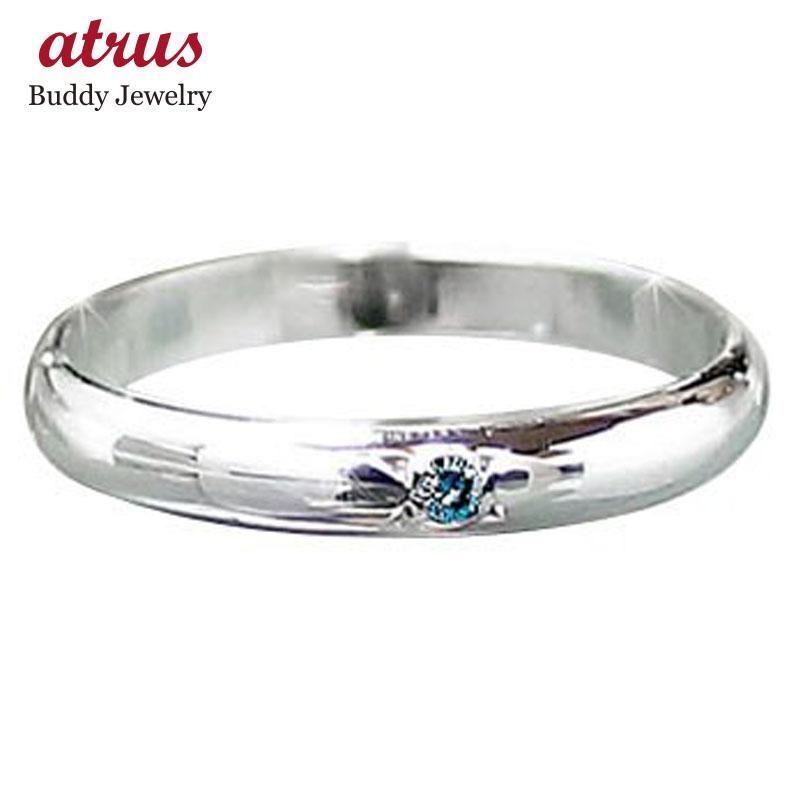 ピンキーリング ダイヤモンド リング ホワイトゴールドk10リング ダイヤモンド 指輪 一粒 シンプル 10金 ダイヤ ストレート 2.3 宝石 送料無料
