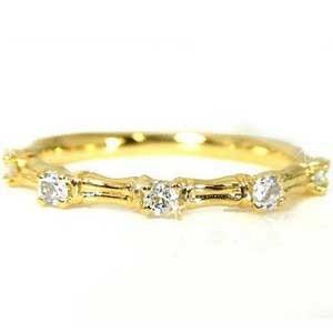 ピンキーリング ピンキーリングダイヤモンド リングk10指輪ダイヤモンド 0.15ctイエローゴールド重ね付け小指に ダイヤ 10金 ストレート 宝石 送料無料