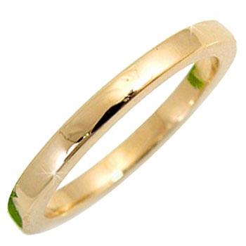 ピンキーリング ピンキーリングk10指輪イエローゴールド重ね付けにも最適シンプルリング 10金 ストレート 送料無料