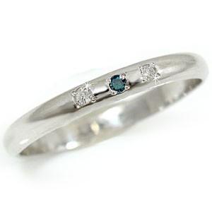 ピンキーリング ダイヤモンド リング ホワイトゴールドk10リング 婚約指輪 エンゲージリング 指輪 ブルーダイヤモンド 10金 ダイヤ ストレート 2.3 宝石