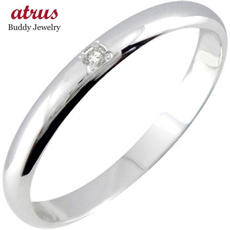 送料無料 2.3 ストレート ダイヤモンド ピンキーリング ダイヤ 指輪 10金 ホワイトゴールドK10