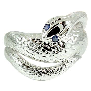 【送料無料】蛇 スネーク リング サファイア ホワイトゴールドk18 指輪 9月誕生石 18金 贈り物 誕生日プレゼント ギフト ファッション 妻 嫁 奥さん 女性 彼女 娘 母 祖母 パートナー