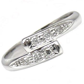 【送料無料】ピンキーリング プラチナリング ダイヤモンド 指輪 ダイヤ 4月誕生石 ストレート 贈り物 誕生日プレゼント ギフト ファッション 妻 嫁 奥さん 女性 彼女 娘 母 祖母 パートナー