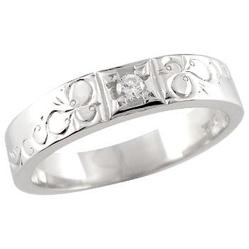 ダイヤモンド プラチナリング ピンキーリング 指輪 おシャレな手作りリング ダイヤ 4月誕生石 ストレート 贈り物 誕生日プレゼント ギフト ファッション