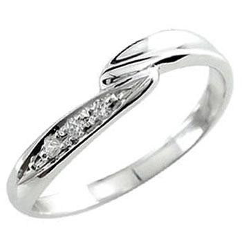 ダイヤモンド ピンキーリング ホワイトゴールドk18 ダイヤ 指輪 18金 4月誕生石 ストレート 贈り物 誕生日プレゼント ギフト ファッション 18k