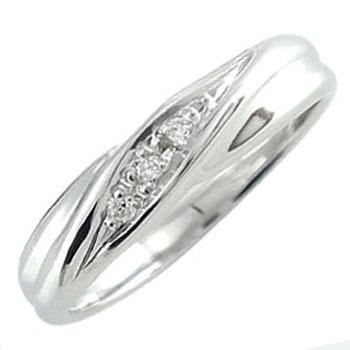 ピンキーリング ホワイトゴールドk18 指輪ダイヤモンドリング 18金 ダイヤ 4月誕生石 ストレート 贈り物 誕生日プレゼント ギフト ファッション 18k 妻 嫁 奥さん 女性 彼女 娘 母 祖母 パートナー 送料無料
