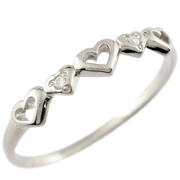 オープンハートダイヤモンド リング 指輪 ホワイトゴールドk18 18金 ダイヤ 4月誕生石 贈り物 誕生日プレゼント ギフト ファッション 18k 妻 嫁 奥さん 女性 彼女 娘 母 祖母 パートナー 送料無料
