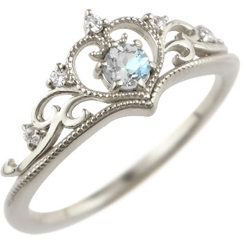 ティアラ リング 指輪ダイヤモンド ブルームーンストーン ミル打ち 6月誕生石 ホワイトゴールドk18 18金 ダイヤ ストレート 贈り物 誕生日プレゼント ギフト ファッション 妻 嫁 奥さん 女性 彼女 娘 母 祖母 パートナー 送料無料
