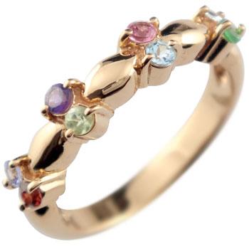 指輪 アミュレット リング ピンクゴールドk18 18金 ストレート 贈り物 誕生日プレゼント ギフト ファッション 妻 嫁 奥さん 女性 彼女 娘 母 祖母 パートナー 送料無料
