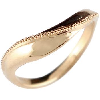 指輪 ピンクゴールドk18 リング ピンキーリング ミル打ち 地金リング 宝石なし 18金 ストレート 贈り物 誕生日プレゼント ギフト ファッション 妻 嫁 奥さん 女性 彼女 娘 母 祖母 パートナー 送料無料