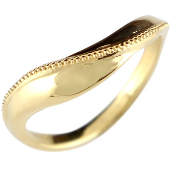 指輪 イエローゴールドk18 リング ピンキーリング ミル打ち 地金リング 宝石なし 18金 ストレート 贈り物 誕生日プレゼント ギフト ファッション 妻 嫁 奥さん 女性 彼女 娘 母 祖母 パートナー 送料無料
