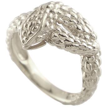 スネークリング 蛇 指輪 ピンキーリング ホワイトゴールドk18 地金リング 宝石なし 18金 贈り物 誕生日プレゼント ギフト ファッション 妻 嫁 奥さん 女性 彼女 娘 母 祖母 パートナー 送料無料