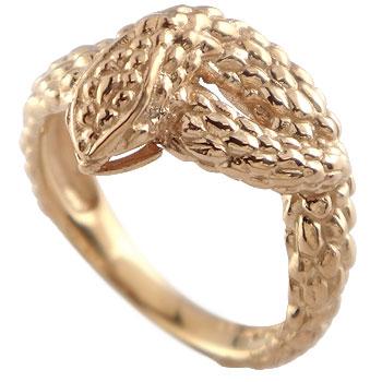 スネークリング 蛇 指輪 ピンキーリング ピンクゴールドk18 地金リング 宝石なし 18金 贈り物 誕生日プレゼント ギフト ファッション 妻 嫁 奥さん 女性 彼女 娘 母 祖母 パートナー 送料無料