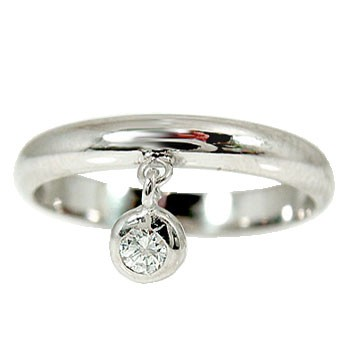 【送料無料】ピンキーリング プラチナリング;一粒 ;ダイヤモンド 指輪 ダイヤ 4月誕生石 ストレート 贈り物 誕生日プレゼント ギフト ファッション 妻 嫁 奥さん 女性 彼女 娘 母 祖母 パートナー
