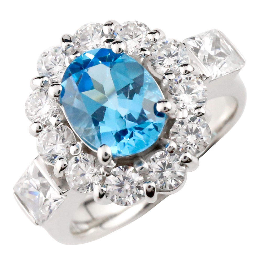 【送料無料】ブルートパーズ リング シルバー 指輪 11月誕生石 ストレート ファッション