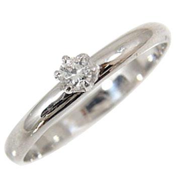 立爪 エンゲージリング ダイヤモンド リング ホワイトゴールドK18 婚約指輪 ピンキーリング 一粒0.10ct 18金 ダイヤモンドリング ダイヤ ストレート 2.3