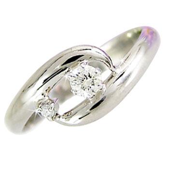 【送料無料】ピンキーリング ピンキーリングホワイトゴールドk18指輪ダイヤモンドリング ダイヤ 18金 4月誕生石 ストレート ファッション 妻 嫁 奥さん 女性 彼女 娘 母 祖母 パートナー