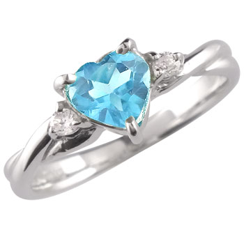 【送料無料】トパーズ 指輪 プラチナリング ブルートパーズリングダイヤモンド プラチナ ピンキーリング ダイヤ 11月誕生石 ストレート 贈り物 誕生日プレゼント ギフト ファッション