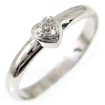 【送料無料】ハートダイヤモンド ピンキーリング プラチナリング 指輪 ダイヤ 4月誕生石 2.3 贈り物 誕生日プレゼント ギフト ファッション 妻 嫁 奥さん 女性 彼女 娘 母 祖母 パートナー