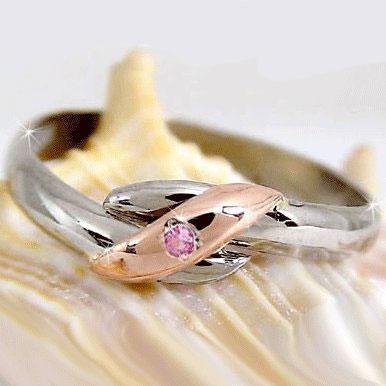 【送料無料】ピンキーリング ピンクサファイア ホワイトゴールドk10 ピンクゴールドk10 指輪 ホワイトゴールドk10リング k10k10 10金 ストレート 贈り物 誕生日プレゼント ギフト ファッション