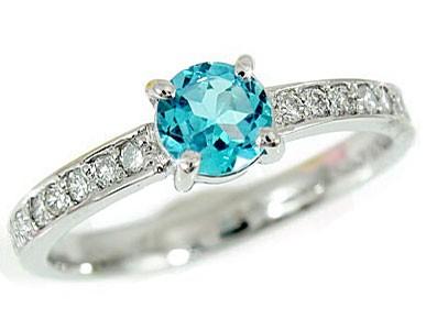 【送料無料】トパーズ ブルートパーズリング プラチナリング 指輪ダイヤモンド ピンキーリング ダイヤ 11月誕生石 ストレート 贈り物 誕生日プレゼント ギフト ファッション 妻 嫁 奥さん 女性 彼女 娘 母 祖母 パートナー