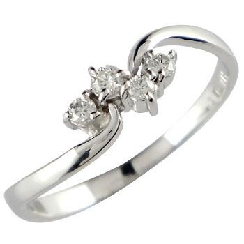 【送料無料】プラチナリング 指輪 ピンキーリング ダイヤモンドリングモンド ダイヤ ダイヤ 4月誕生石 ストレート 贈り物 誕生日プレゼント ギフト ファッション 妻 嫁 奥さん 女性 彼女 娘 母 祖母 パートナー