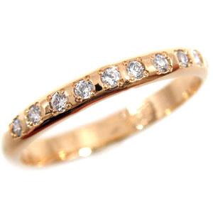 ピンキーリング ダイヤモンドリング ピンクゴールドk18 指輪ダイヤモンド k18 ダイヤ 18金 4月誕生石 ストレート 2.3 贈り物 誕生日プレゼント ギフト ファッション 18k 妻 嫁 奥さん 女性 彼女 娘 母 祖母 パートナー 送料無料