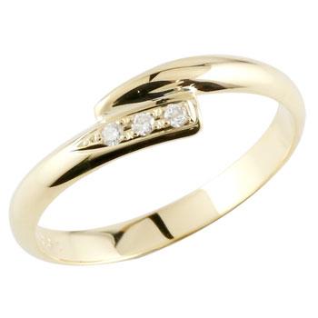 ピンキーリング イエローゴールドk18 ダイヤモンド 指輪 18金 ダイヤ 4月誕生石 ストレート 贈り物 誕生日プレゼント ギフト ファッション 18k