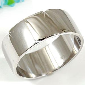 ピンキーリング 指輪 ホワイトゴールドk18 幅広リング 18金 ストレート ファッション