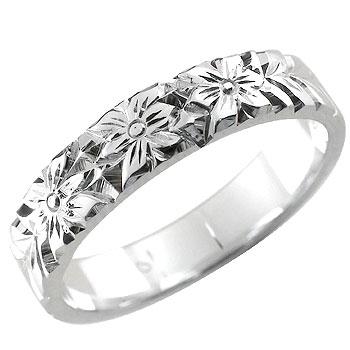 ピンキーリング 花 フラワー プラチナリング 指輪 手彫りリング 椿 プラチナプラチナ ストレート ファッション