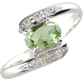 【送料無料】ペリドット ダイヤモンド プラチナ リング 指輪 8月誕生石 ダイヤ ストレート 贈り物 誕生日プレゼント ギフト ファッション 妻 嫁 奥さん 女性 彼女 娘 母 祖母 パートナー