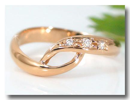 【送料無料】ピンキーリングダイヤモンドリングピンクゴールドk18指輪 18金 ダイヤ 4月誕生石 ストレート 贈り物 誕生日プレゼント ギフト ファッション 18k 妻 嫁 奥さん 女性 彼女 娘 母 祖母 パートナー