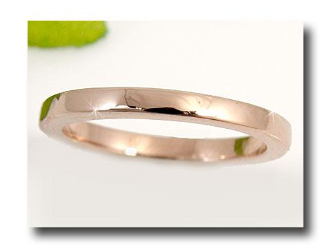 【送料無料】ピンキーリング ピンクゴールドk18 指輪;k18重ね付けにも最適リング 18金 ストレート ファッション 妻 嫁 奥さん 女性 彼女 娘 母 祖母 パートナー
