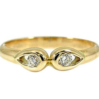 ピンキーリング ピンキーリングダイヤモンドリング イエローゴールドk18 k18 ダイヤ 18金 4月誕生石 ストレート 指輪 宝石 送料無料