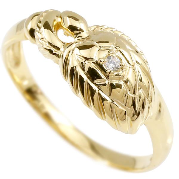婚約指輪 リング イエローゴールドk18 ダイヤモンド カメ エンゲージリング 指輪 ピンキーリング 18金 亀 かめ レディース 妻 嫁 奥さん 女性 彼女 娘 母 祖母 パートナー
