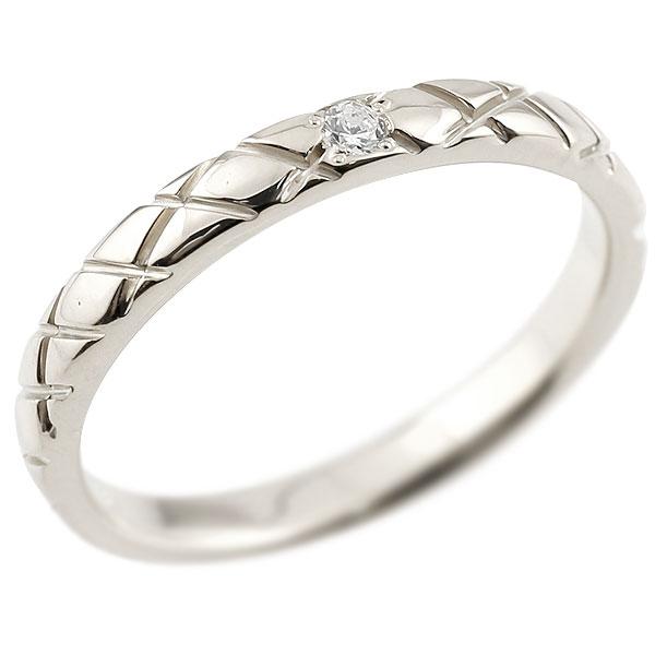ピンキーリング ダイヤモンドプラチナリング pt900 アンティーク ストレート チェック柄 指輪 ダイヤリング 妻 嫁 奥さん 女性 彼女 娘 母 祖母 パートナー 送料無料