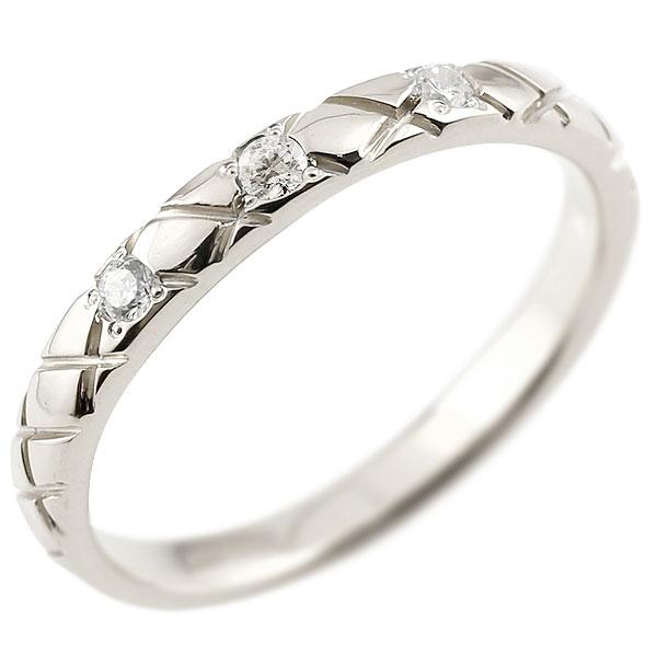ピンキーリング ダイヤモンド シルバー925 アンティーク ストレート チェック柄 4月誕生石 指輪 ダイヤリング 妻 嫁 奥さん 女性 彼女 娘 母 祖母 パートナー 送料無料