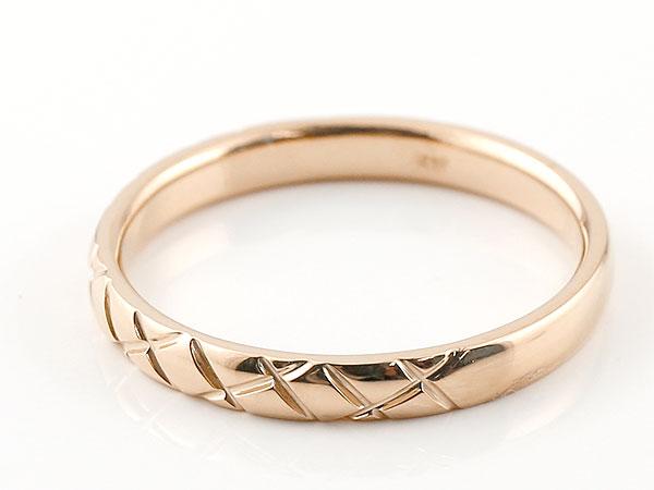 ピンキーリング ダイヤモンド ピンクサファイア ピンクゴールドk18 18金 k18 アンティーク ストレート チェック柄 9月誕生石 指輪 ダイヤリング 妻 嫁 奥さん 女性 彼女 娘 母 祖母 パートナー 送料無料lc1FJK