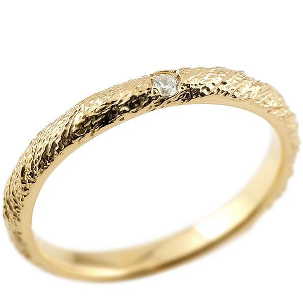ピンキーリング ダイヤモンドイエローゴールドk18 18金 k18 アンティーク ストレート 指輪 ダイヤリング 妻 嫁 奥さん 女性 彼女 娘 母 祖母 パートナー 送料無料