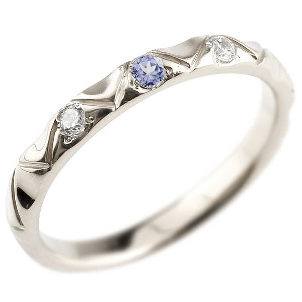 シルバー925 ピンキーリング ダイヤモンド タンザナイト アンティーク ストレート 12月誕生石 指輪 ダイヤリング 妻 嫁 奥さん 女性 彼女 娘 母 祖母 パートナー