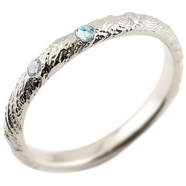 ピンキーリング ダイヤモンド ブルートパーズ プラチナリング pt900 アンティーク ストレート 11月誕生石 指輪 ダイヤリング 妻 嫁 奥さん 女性 彼女 娘 母 祖母 パートナー 送料無料