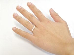 ピンキーリング ダイヤモンド エタニティ ハーフエタニティ リング イエローゴールドk18 18金 リング 幅広 指輪 ダイヤUMVSpGqz